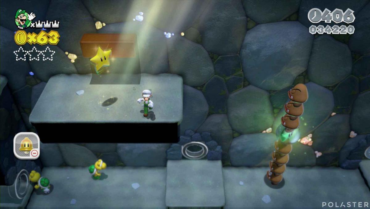 Super Mario 3D World Mundo 1-2 Estrella 3