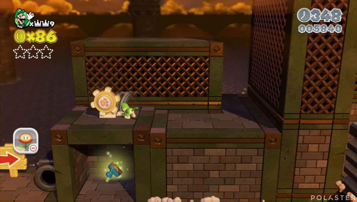 Super Mario 3D World Mundo 1-Castillo Estrella 2