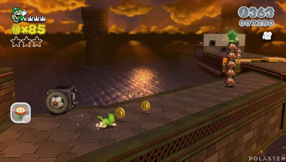 Super Mario 3D World Mundo 1-Castillo Estrella 3