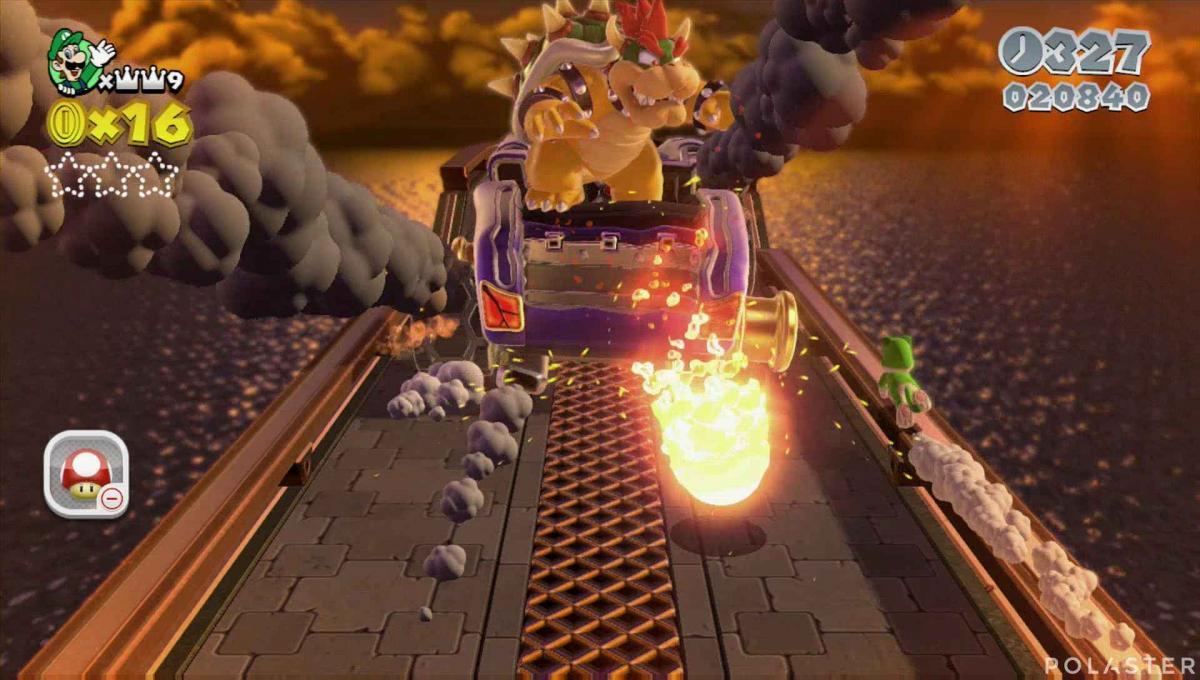 Super Mario 3D World Mundo 1-Castillo Jefe Bowser