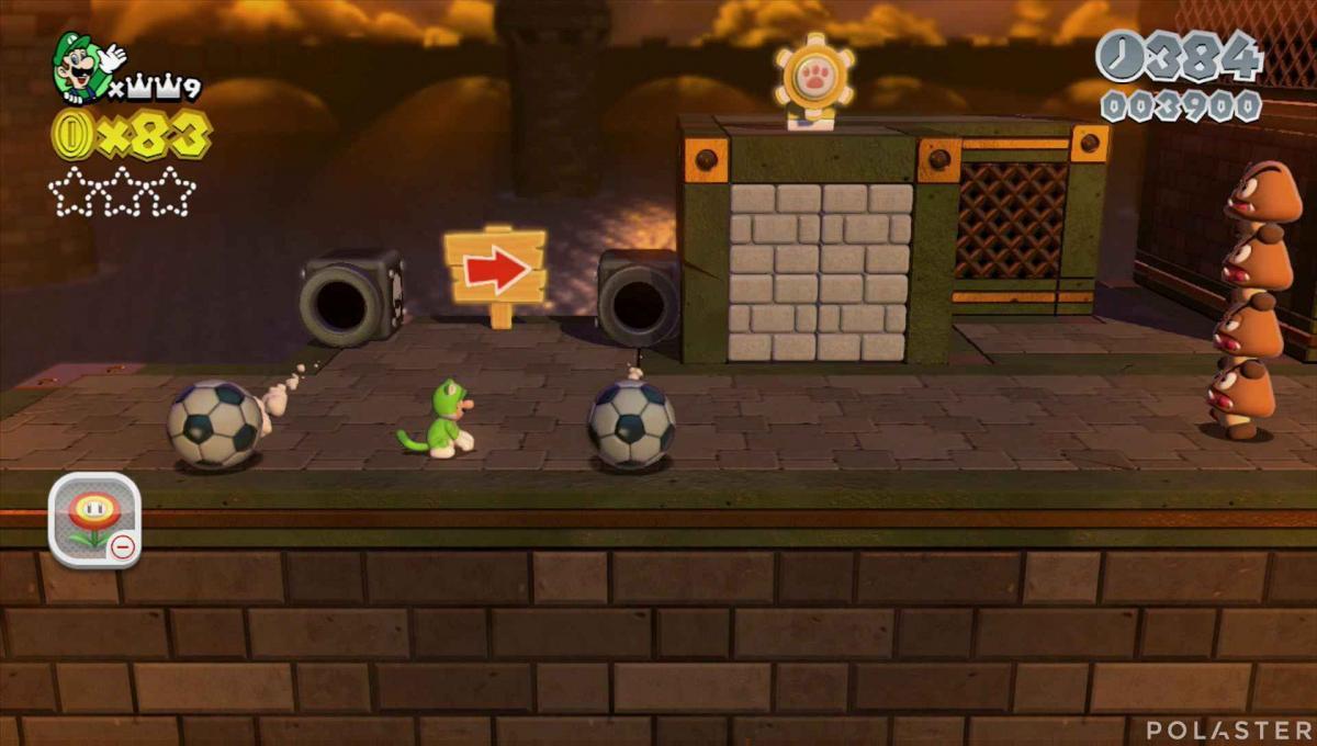 Super Mario 3D World Mundo 1-Castillo Sello