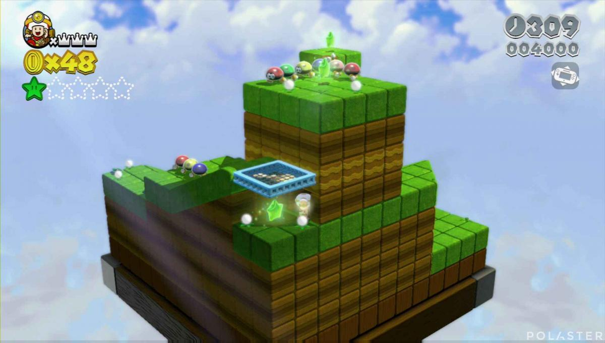 Super Mario 3D World Mundo 1-Toad Estrella 3
