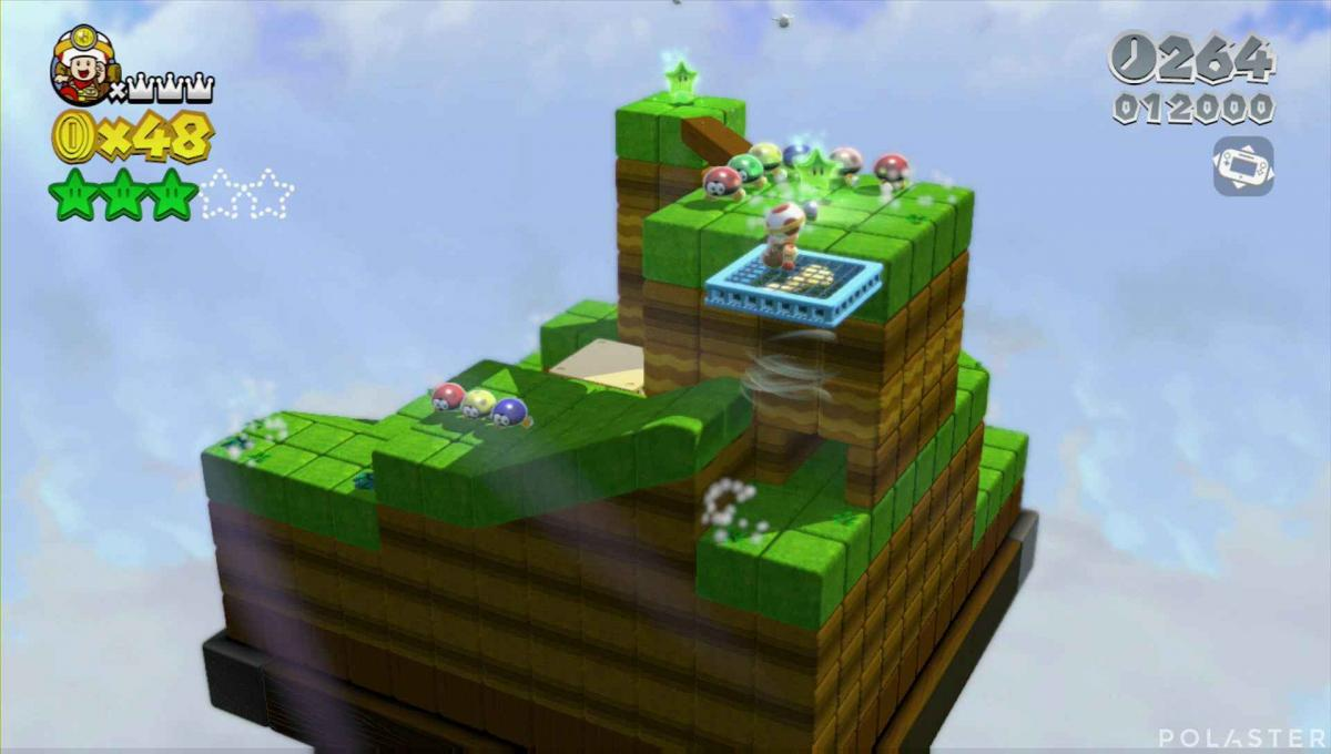 Super Mario 3D World Mundo 1-Toad Estrella 4