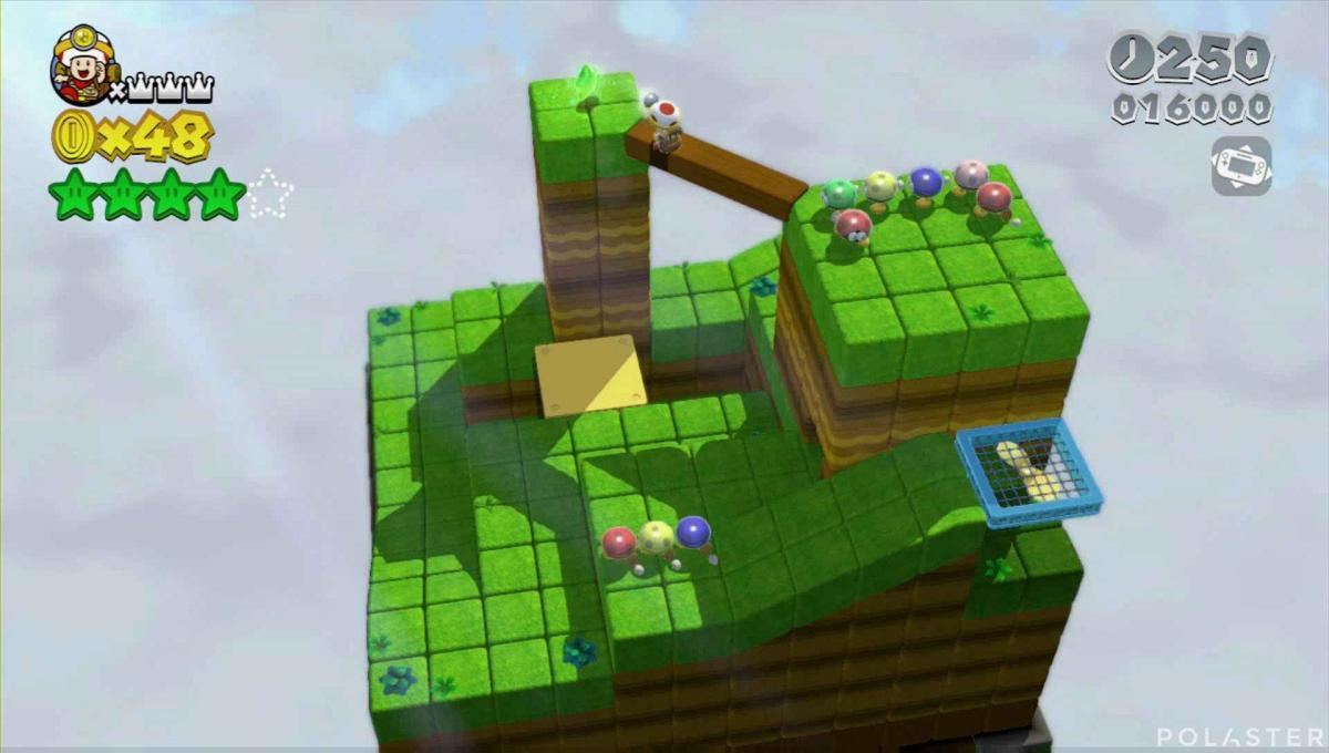 Super Mario 3D World Mundo 1-Toad Estrella 5