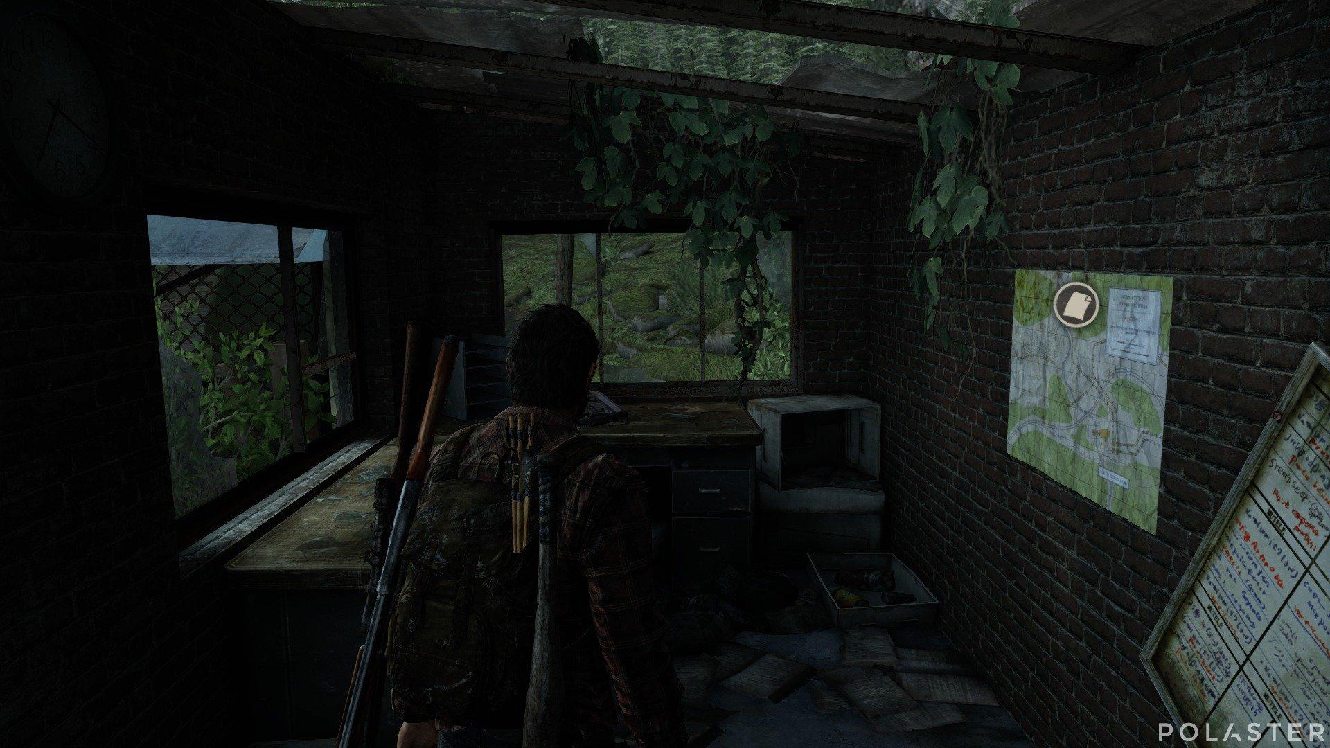 The Last of Us Artefacto Mapa de la planta de energía