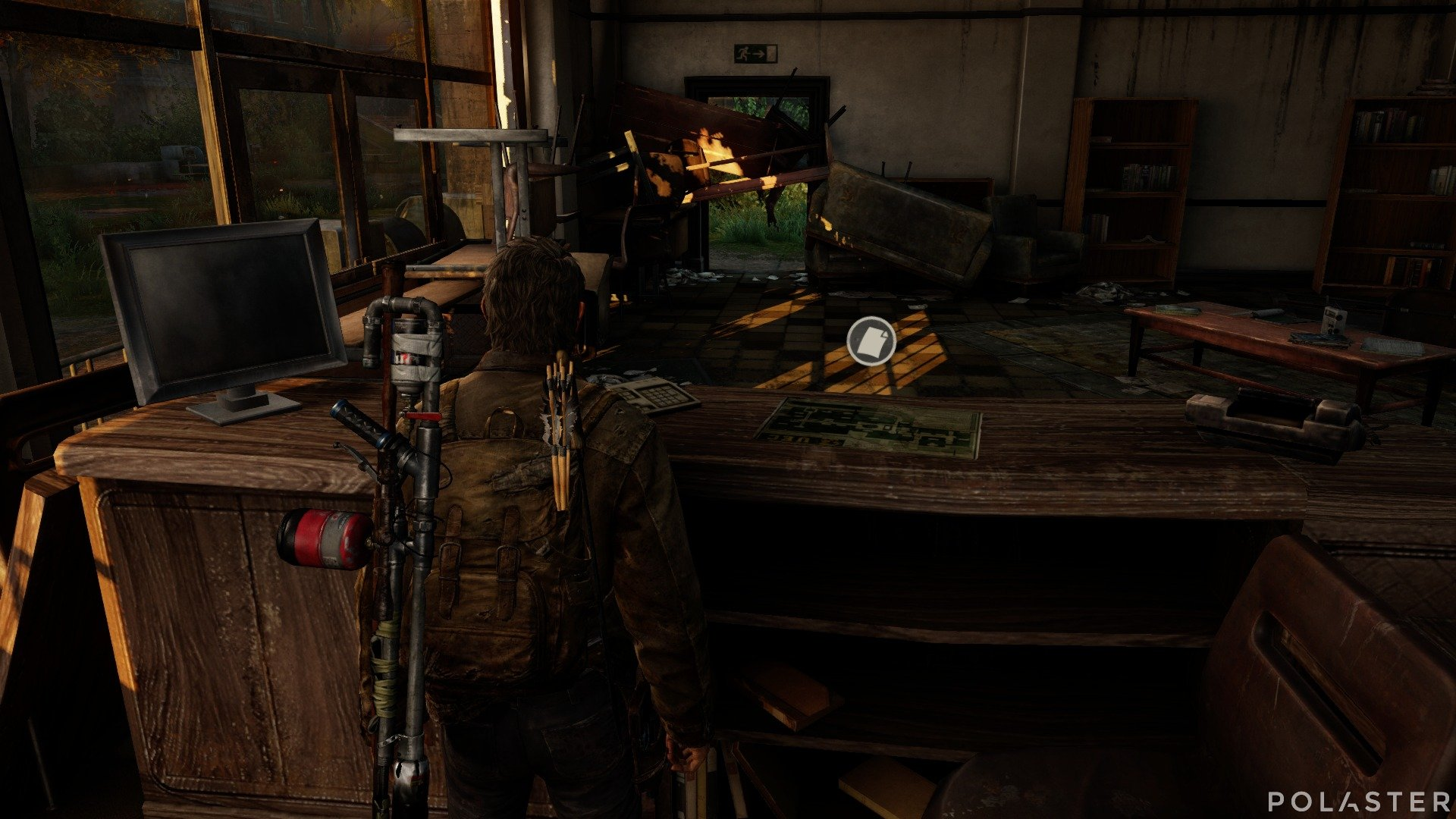 The Last of Us Artefacto Mapa del campus de la UEC