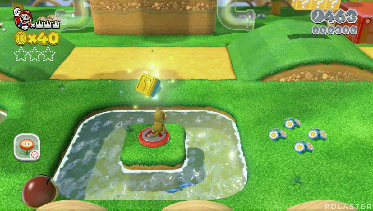 Super Mario 3D World Mundo 2-4 Sello