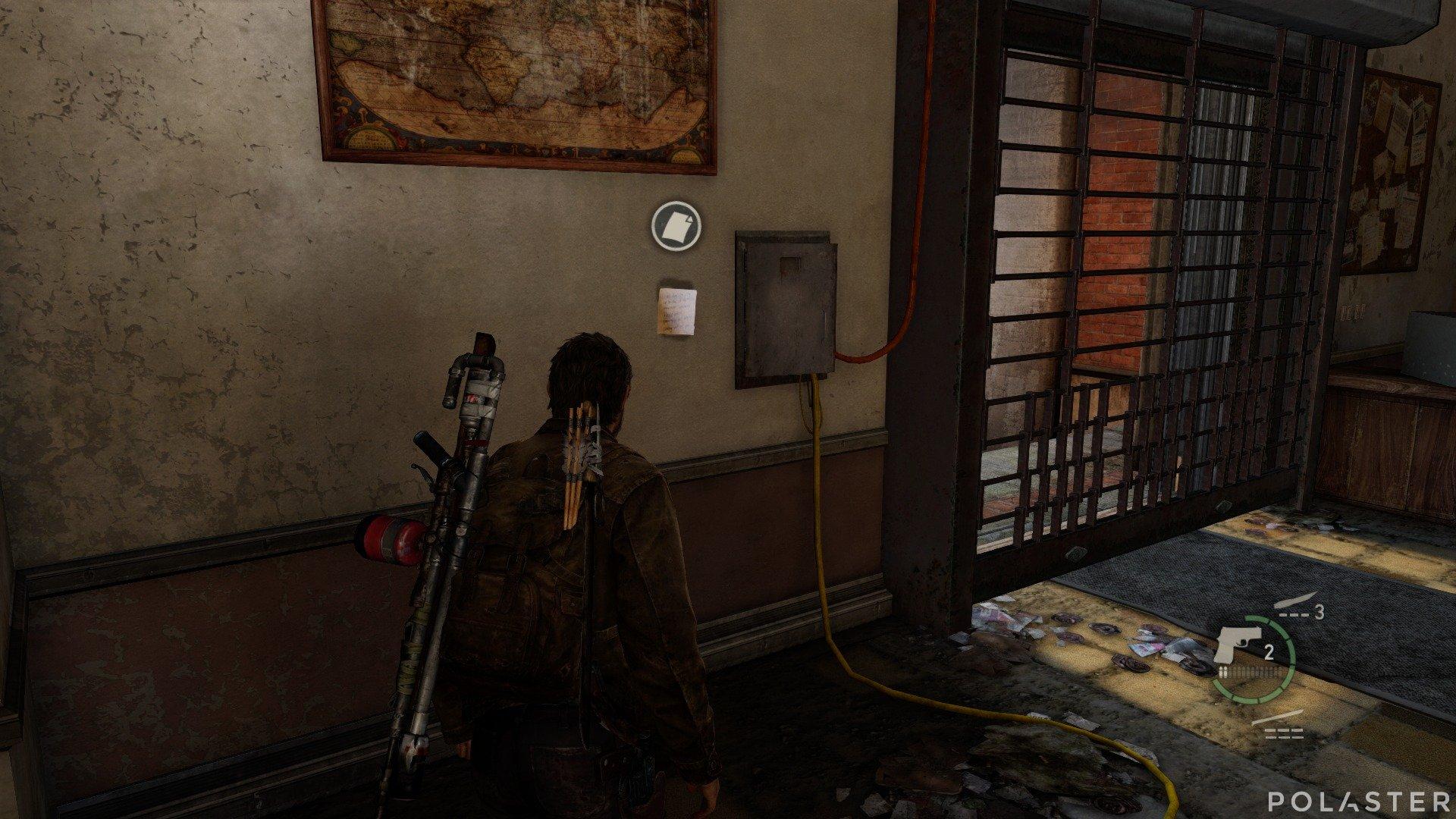 The Last of Us Artefacto Nota del tablón