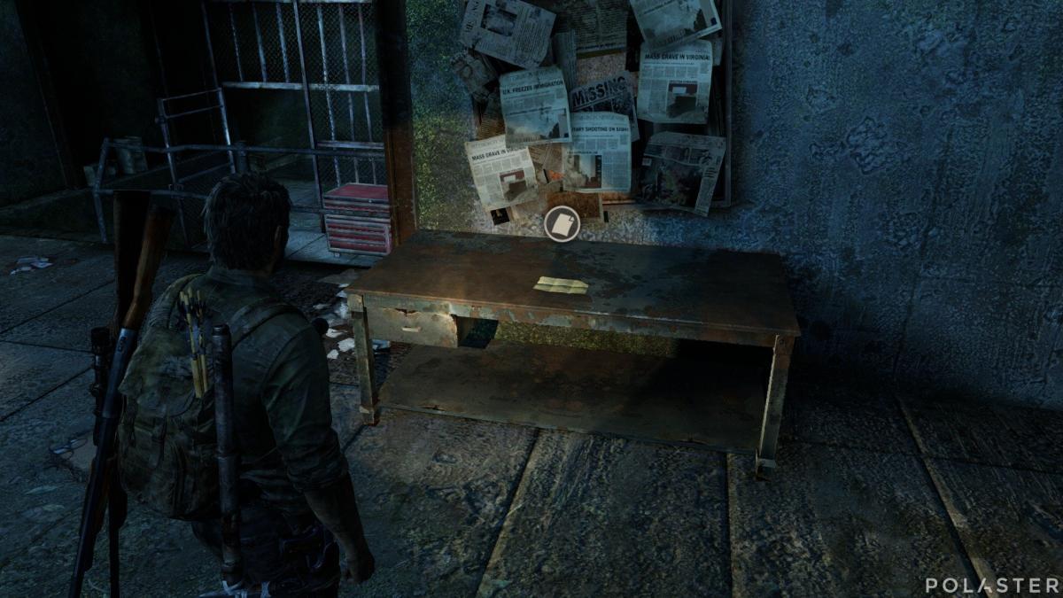 The Last of Us Artefacto Nota de las alcantarillas