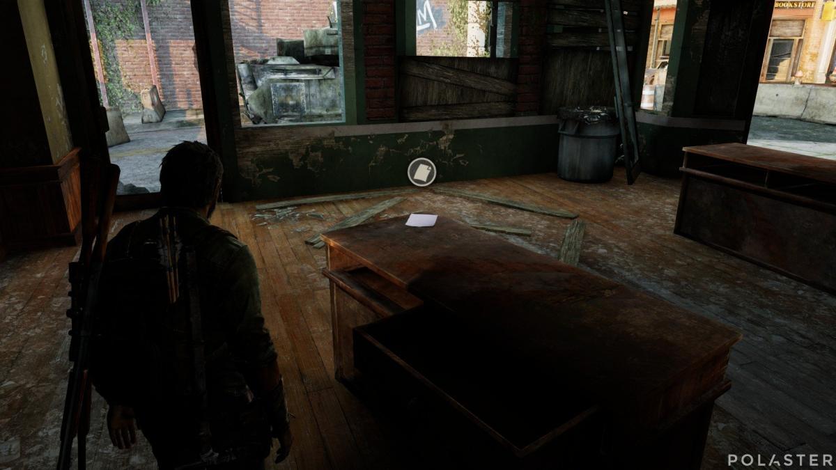 The Last of Us Artefacto Nota del camión